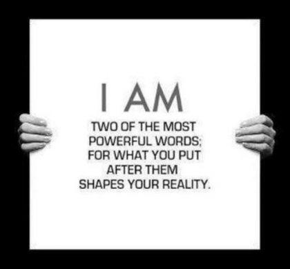 I AM…..